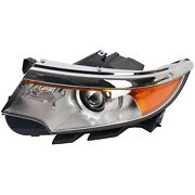 For 2011-2014 Ford Edge Left Driver Side Front Headlamp New Headlight W/ Bulb