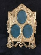 Antique Large Imperial French Heavy Solid Bronze Picture Frame-330e