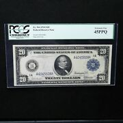 1914 20 Federal Reserve Note Boston Fr 964 Pcgs 45 Ppq Extremely Fine