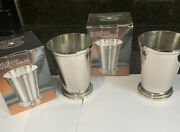 Two Vintage 1997 Godinger Silver Plated Beaded Tumblers In Original Boxes