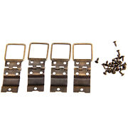 38x21mm Vintage Antique Brass Hardware Wood Box Doors Spring Hinges Replacement