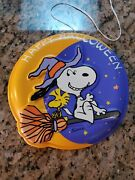 Vintage Peanuts Snoopy Witch Happy Halloween Lighted Battery Sign 1965 Hallmark