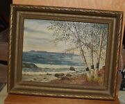 Painting By Mary Emma Bailey, Sleeping Giant From Chippewa Park,ontario Canada