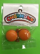 Vtg 80and039s Charmann Hamburger Pair Food Charm For 1980andrsquos Plastic Charms Necklace