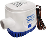 Maxzone Automatic Submersible Boat Bilge Water Pump 12v 1100gph Auto With Float