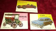3 Topps World On Wheels Vintage Trading Cards Form The 1950's