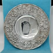 S. Kirk And Son Co. 925/1000 Sterling Repousse 11 Footed Plate Armorial