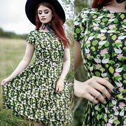 Swan Lake Print Dress By Run And Fly 8 10 12 14 16 18 20 Quirky Cute