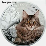 Niue 2014 1 Siamese Cat Manandrsquos Best Friends Andndash Cats Proof Silver Coin