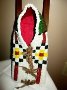 Northern Plains Beaded Doll Size Cradle Board 30and039s-40and039s Inherited 1960and039s