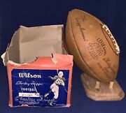 Antique 1940's Charlie Trippi Wilson Player Model Football And Signed Photo Box