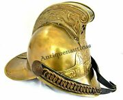 1800's Brass Fireman French Antique Reproduction Firefighter Sca Nautical Helmet