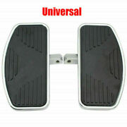 2x Motorcycle Left And Right Floorboards Foot Boards Pedal Universal Usa Ship