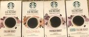 Starbucks Instant Via Coffee Bundle - 48 Packets Of French, Italian, And More