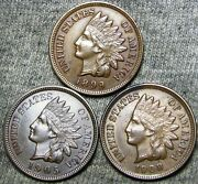 1899 1905 1908 Indian Cent Penny --- Stunning Lot --- D419