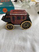 2011 Wells Fargo Bank Stage Coach Coin Cast Iron Bank No Key Otherwise Mint