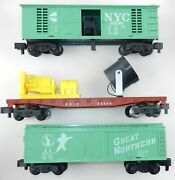 American Flyer S 3 Car Lot 25081 Nyc 24549 Erie 24422 Gn Freight T111c