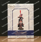 Disney Store Sketchbook Ornament - Limited Edition - Dopey And Sneezy - New