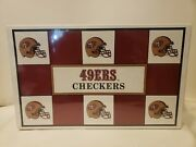 Vtg 1993 San Francisco 49ers Nfl Checkers Game Factory Sealed Free Ship Football