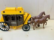 Vintage 451 Wells Fargo Stagecoach And Horses