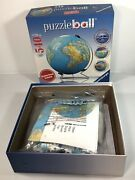 Ravensburger 3d Puzzle Ball World Globe 540 Pieces W/stand New