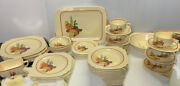 Dinnerware Set Homer Laughlin Red Band Mexicana 1930andrsquos