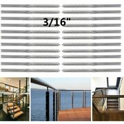 For 3/16 Cable Railing T316 Stainless Steel Swage Lag Screw Stud Right Threaded