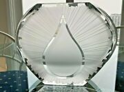 Stuninng Limited Addition Baccarat Crystal Vase 7 1/2 Tall By 10 Wide Mint