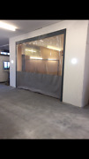 Clear And Grey Car Spraying Air Compressors Curtains / Dividers 20 Ft X 8 Ft