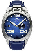 Watch Man Anonimo Militare Am102001003a03 Leather Navy Blue