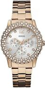 Watch Woman Guess Lady W0335l3 Of Stainless Steel Plated Gold Pink Rose