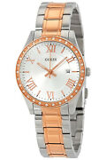 Watch Woman Guess Greenwich W0985l3 Of Stainless Steel Plated Gold Rose