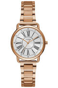Watch Woman Guess Jackie W1148l3 Of Stainless Steel Plated Gold Rose