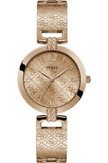 Watch Woman Guess G Luxe W1228l3 Of Stainless Steel Plated Gold Pink Rose