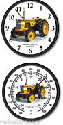 New Minneapolis Moline Model 304u Tractor Clock And Thermometer Set 10 Round
