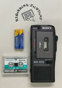 Sony Bm-575 Portable Microcassette Voice Recorder W/ 3 Tapes + 90 Days Warranty