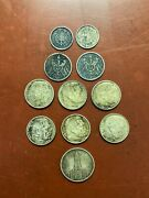German States - Silver - Lot Of 11 Coins.