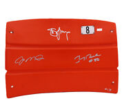 Montana Rice And Young Signed San Francisco 49ers Le Seat Back - Le 1 Of 8