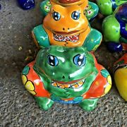 Talavera Mexican Potter - Animals - Baby Frog Planter    Free Freight