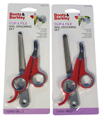 Set Of 2 Boots And Barkley Pet Clip N File Nail Grooming Sets New Red