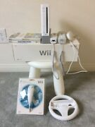 Nintendo Wii Console Sports Bundle W/ 2 Controllers And 2 Nunchucks 2 Games