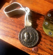 Bryan And Kern 1908 Presidential Campaign Watch Fob With Leather Strap