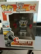 Funko Pop T.v. Lost In Space Robot B9 92 Rare Andvaulted W/pop Protector {fpb3}