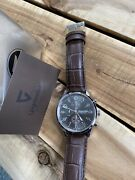 """Gigandet Men's Quartz Watch """"red Touch""""chronograph Analogue Leather Brown Strap"""