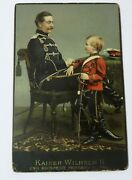 Vintage Color Card Of Kaiser Wilhelm Ii King Of Prwith His Young Son