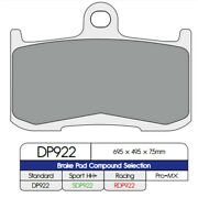 Dp Front Brake Pads Dp922 Indian Chieftain 116 Abs Dark Horse 2 Only Bags 2020
