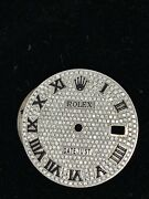 Full Diamond Pave Roman Numbers Dial For Rolex Datejust Ii Real Diamonds