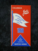 Vintage 1966 Columbus Jets Sketch Book Pirates Aaa Press Media Guide 1539