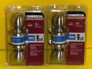 Lot Of 2 - Tell Cl500004 Privacy Commercial Heavy Duty Door Knobs New