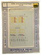 Microscale Decal N Scale 60-694 Golden West Service Freight Cars 3 Mip